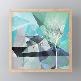 FLAMINGOS P19-A2 Framed Mini Art Print