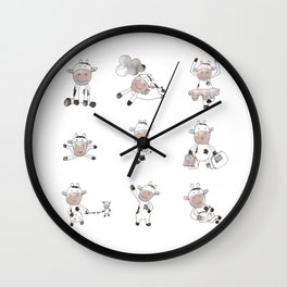 Cows Can Fly Wall Clock