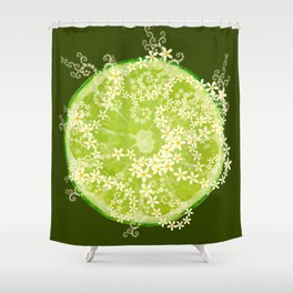 Key Lime Surprise Shower Curtain