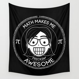 Frickin Awesome - Math Girl Wall Tapestry