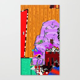 Skullface In Waiting Canvas Print