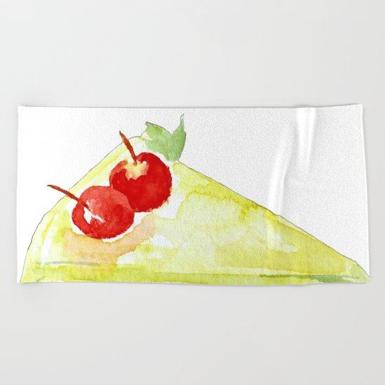 Lime Cake Beach Towel