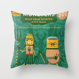 Pure Monsters Throw Pillow