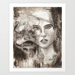 THE LABYRINTH 1 Art Print
