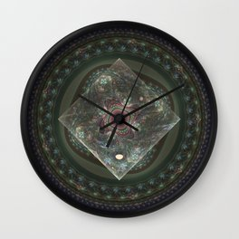 Center Squared by Knightengale Wall Clock