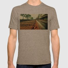 Train Track Mens Fitted Tee Tri-Coffee SMALL