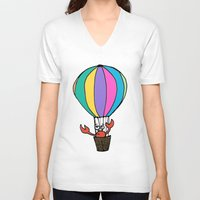 percy jackson V-neck T-shirts featuring Percy Purcell the Worried Crab by Abigail Balfe