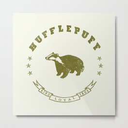 Hufflepuff House Metal Print