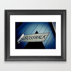 Crosswalk Framed Art Print