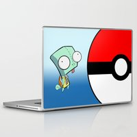 squirtle Laptop & iPad Skins featuring GIR Squirtle  by Diffro