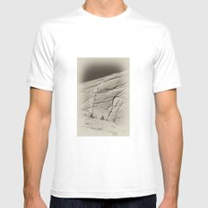 Yosemite Half Dome Hikers Mens Fitted Tee White MEDIUM