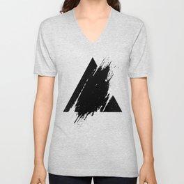 Splashed Triangle Unisex V-Neck