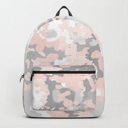 camo pink and grey abstract brushstrokes modern canvas art decor dorm college Backpack