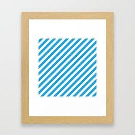 Oktoberfest Bavarian Blue and White Candy Cane Stripes Framed Art Print