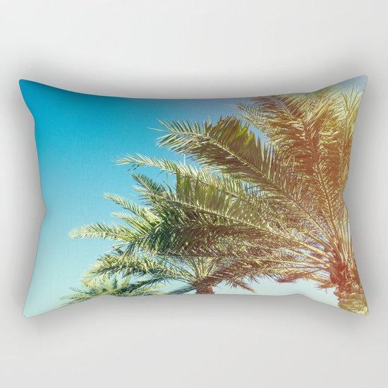 Vintage Palm tree vibes Rectangular Pillow