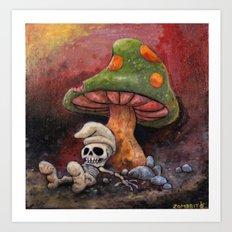 Deathly Smurf Art Print