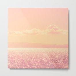 Dreamy Champagne Pink Sparkling Ocean Metal Print