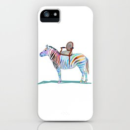 animals with chairs #4 Chair on a Zebra iPhone Case