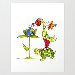 Love the planet Art Print