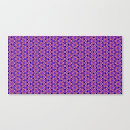 Neon crayon tessellation Canvas Print