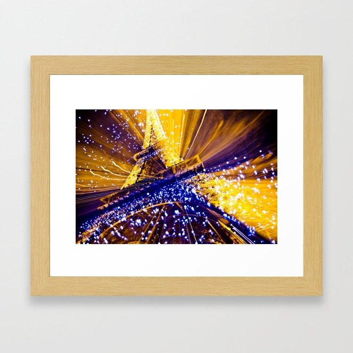 Supernova Eiffel Framed Art Print