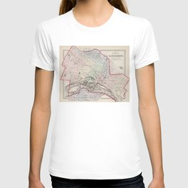 Vintage Map of Richmond Virginia (1884) T-shirt