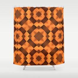 Pattern in Warm Tones Shower Curtain
