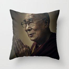 His Holiness The Dalai Lama Throw Pillow