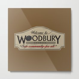 Welcome to Woodbury Metal Print