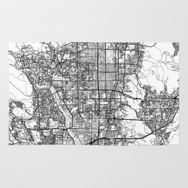 Kyoto Map White Rug