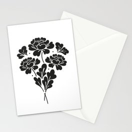 Little Black Roses bouquet Stationery Cards