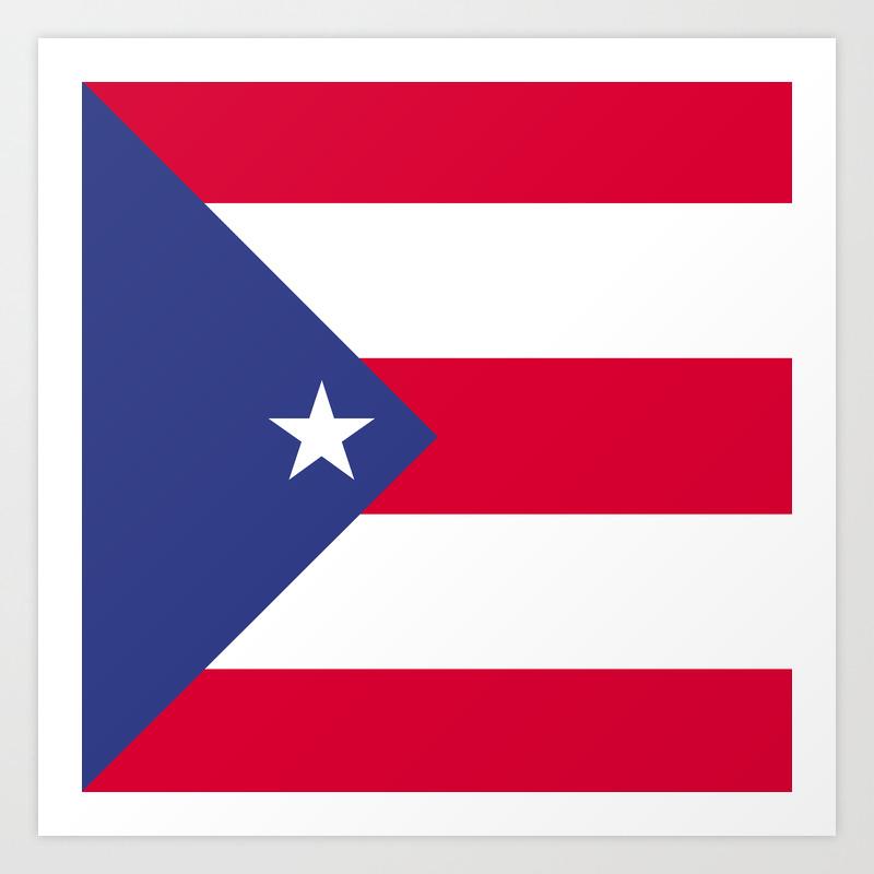 Puerto Rico flag emblem Art Print by textures   Society6