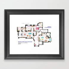 Apartments of Will Truman, Grace Adler and Jack - Floorplan Framed Art Print