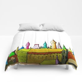 fabulous city painted Comforters