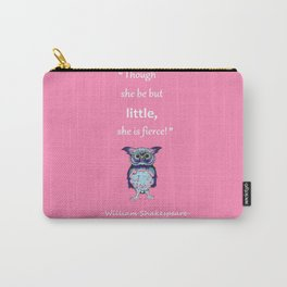 Small And Mighty Pink Carry-All Pouch