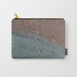 Silver Waves on Concrete Carry-All Pouch