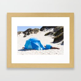 beachgoers Framed Art Print