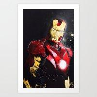 ironman Art Prints featuring Ironman by JLEEORIGINALS