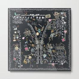 Alchemist tree of life tribal Metal Print