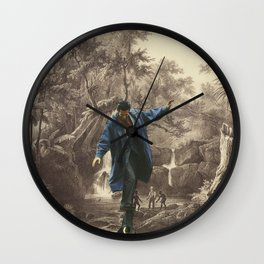 playing in the Jungle Wall Clock