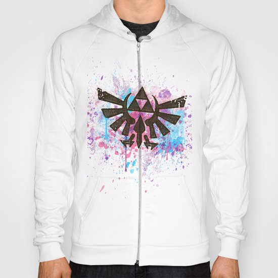 Splash Triforce Emblem Hoody