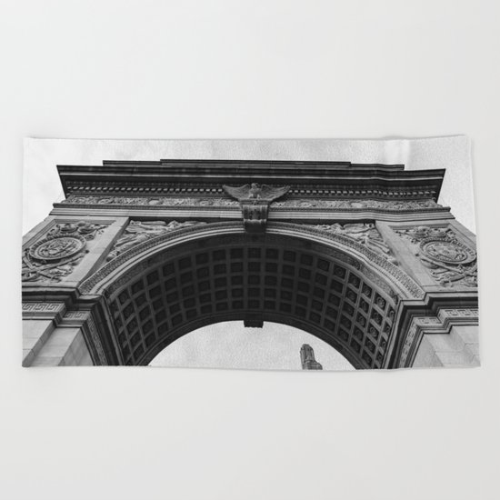 Washington Square Arch II Beach Towel
