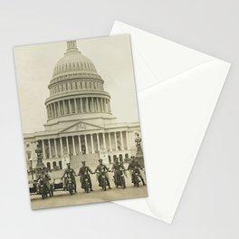 Vintage Motorcycle Police - Washington DC Stationery Cards