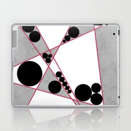 Contemporary Geometric Grey Marble Design Laptop & iPad Skin