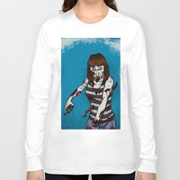 dana scully Long Sleeve T-shirts featuring Dana by ZOMBIFIED