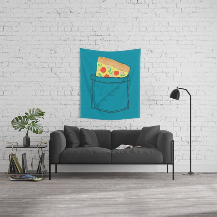 Emergency supply - pocket pizza Wall Tapestry