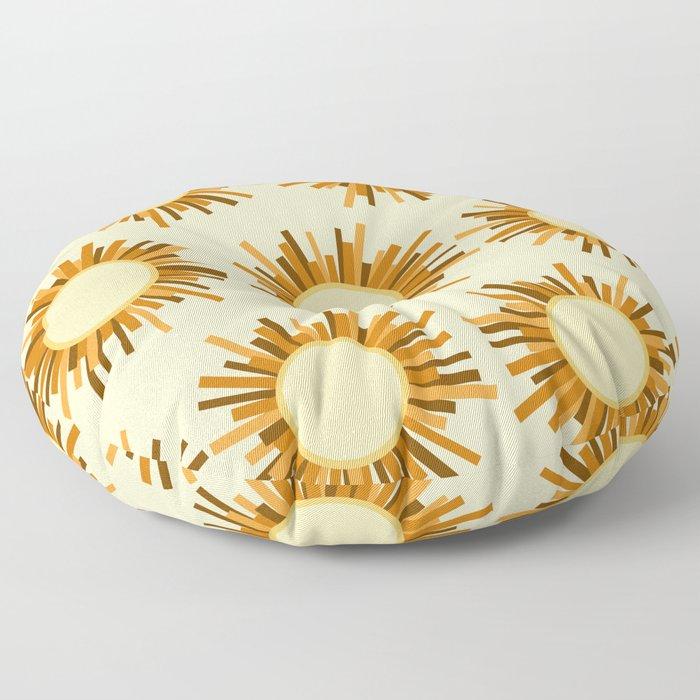 Art Deco Starburst Floor Pillow