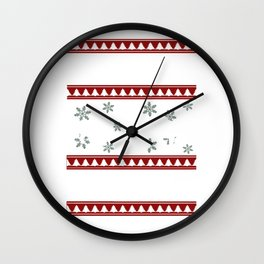 Ugly Christmas English Bulldog Wall Clock