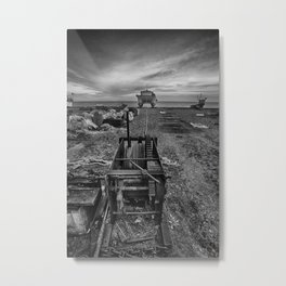 Winched Fishing Boats Metal Print