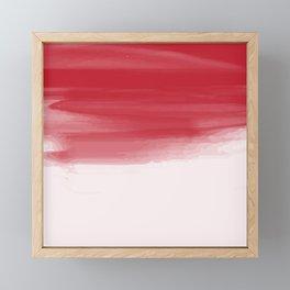 Red abstract brush strokes pattern Framed Mini Art Print
